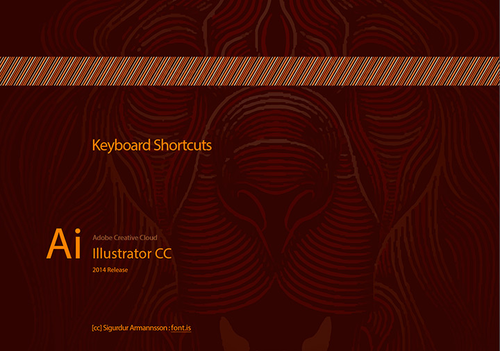 Keyboard Shortcuts Cheat Sheet for Illustrator CC 2014